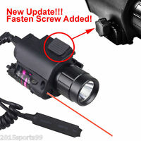 Tactical Combo Led Flashlight Light Red Laser Sight Lock Rail For Pistol Glock