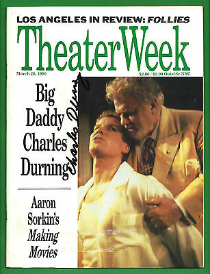 "signed ""cat On A Hot Tin Roof"" Tennessee Williams '90 Magazine Clients First Hearty Charles Durning"