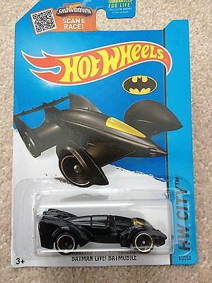 Realistico Hot Wheels Hw City Batman Batmobile Dal Vivo Su Carta Di Lunga-mostra Il Titolo Originale