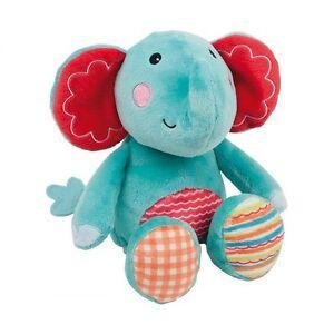 Baby-Plueschtier-Elefant-13-cm-weiches-Kuscheltier-Fisher-Price-Knuddeln-NEU