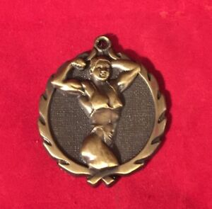 WOMAN FEMALE BODY BUILDER GOLD CHRISTMAS ORNAMENT PERSONALIZED FREE SHIP