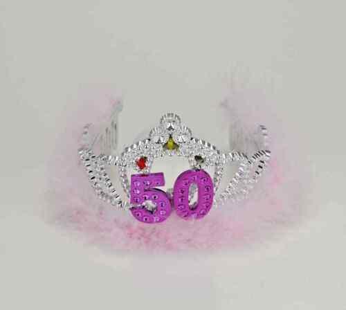 50th Birthday 50 Flashing Tiara Crown Princess Party Favor Costume Accessory