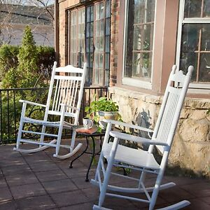 Wood Patio Rocking Chair Set Outdoor