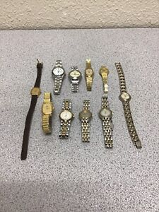 Lot of 10 Assorted Seiko / Citizen Watches - Untested