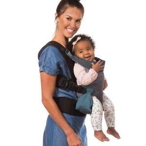 Infantino Go Forward Evolved 4 Ergonomic Position Baby Infant Carrier Charcoal