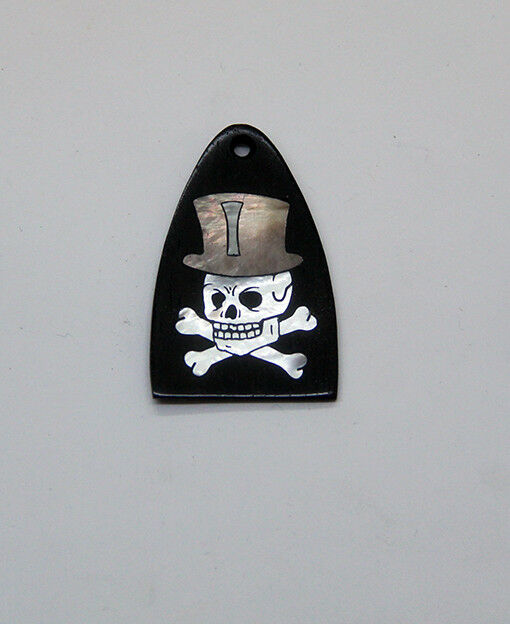 Truss Rod Cover with Skull & Top Hat Inlay will fit PRS