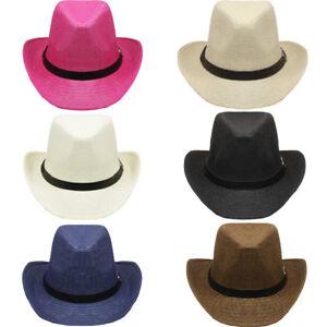 La imagen se está cargando Sombrero-de-Cowboy-Vaquero-Gorro-Playero -Hombre-Exterior- e8e870300ea