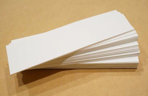 "50 Blank 2/"" x 5/"" bookmarks 140 lb watercolor paper cardstock craft art supplies"
