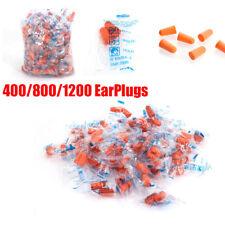 400 800 1200 Ear Plugs Soft Orange Foam Sleep Travel Noise Shooting Earplugs