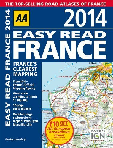 1 of 1 - AA Easy Read France 2014 (Road Atlas) By Automobile Association