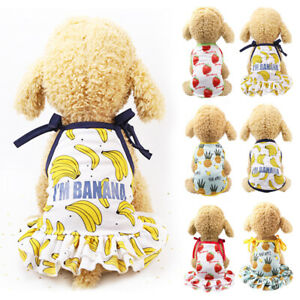 Pet-Dog-Cat-Clothes-Dress-Puppy-Small-Dog-Vest-T-Shirt-Costume-Summer-Apparel-US