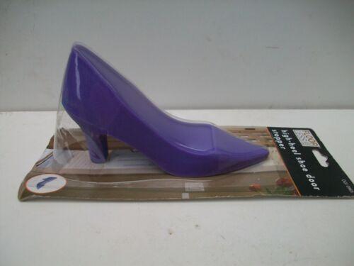 High Heel Shoe purple DOOR STOPPER Rubber Wedge Jam Home Gift Idea Novelty