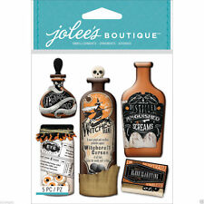 Vintage Bottles & Labels Halloween Witches Bane Screams Jolee's 3D Stickers