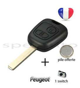 plip coque cl peugeot 107 207 307 106 206 306 406 pile 1 switch ebay. Black Bedroom Furniture Sets. Home Design Ideas