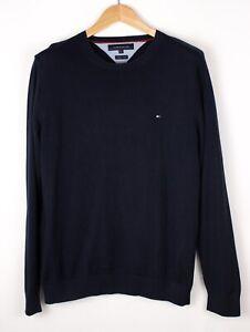 Tommy Hilfiger Herren Premium Baumwolle Strickpullover Größe M ASZ1462