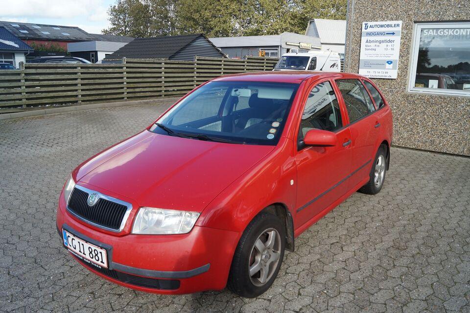 Skoda Fabia 1,4 8V 68 Comfort Combi Benzin modelår 2003 km