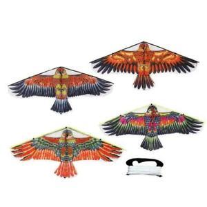 Portable-Nylon-Triangle-Eagle-Rasen-Lenkdrachen-Sport-Kinder-Spielzeug-Q5M8-Z9X4