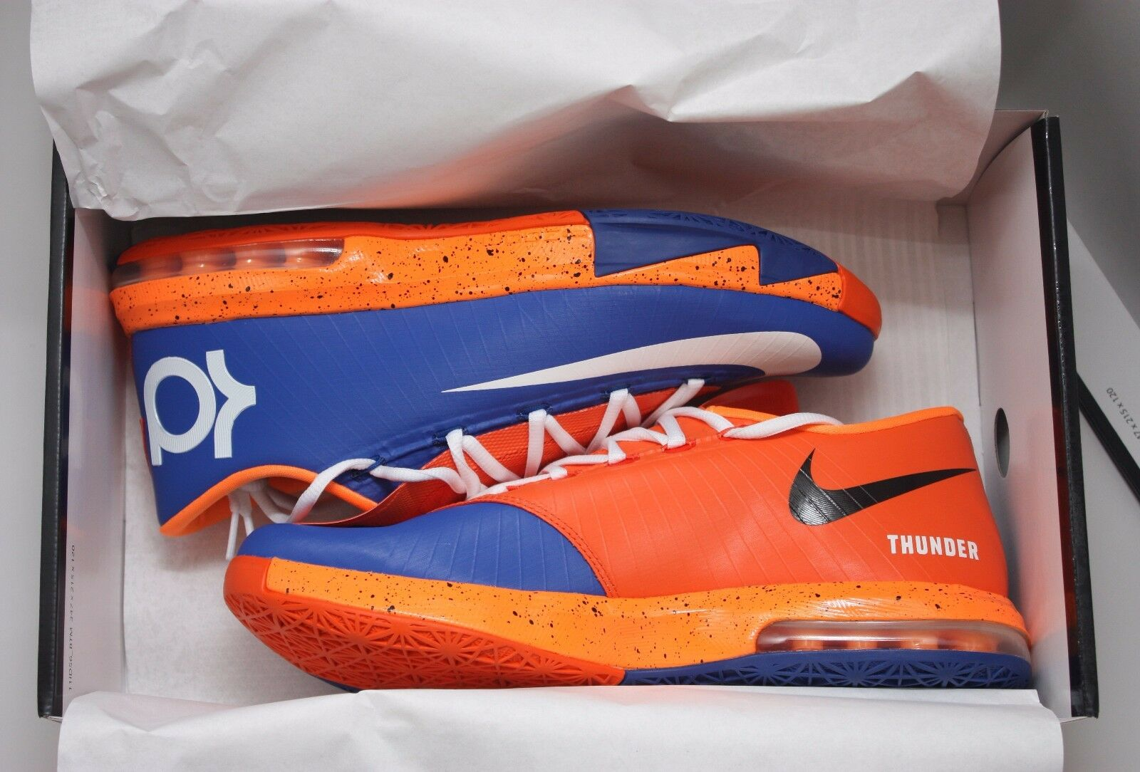 Nike kd vi 6 43 - thunder city arancio - blu white-n7-ext gomma - 627954 991