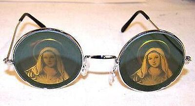 HOLOGRAPHIC VIRGIN MARY RELIGIOUS SUNGLASSES hologram 3-D  glasses trippy JESUS