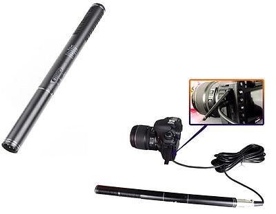 Shotgun Interview Condenser Microphone Mic For Camera Nikon Canon Camcorder