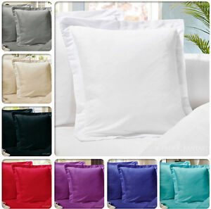 Pair-of-European-Pillowcases-65-x-65-cm-1000TC-Microfibre-12-Colours