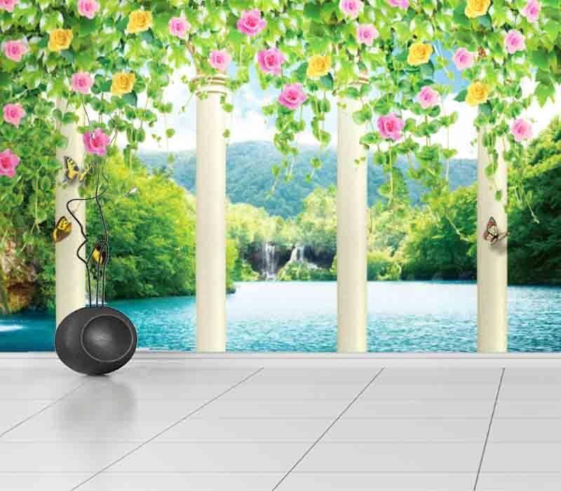 Roman Columngate 3D Full Wall Mural Photo Wallpaper Printing Home Kids Decor