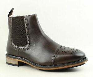 Steve-Madden-Mens-Deadbolt-Brown-Leather-Ankle-Boots-Size-10-5-917690