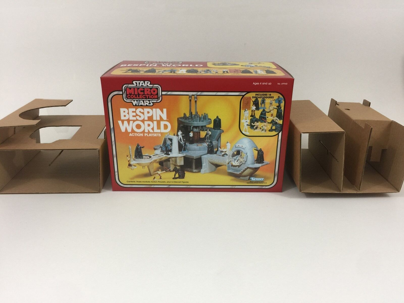 Replacement vintage star wars micro collection bespin world box + inserts