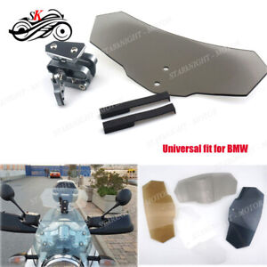 Motorcycle Modified Adjustable Deflector Windshield Motor Wind Screen For Bmw Ebay