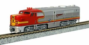 KATO-1764121-N-Scale-Alco-PA-1-Santa-Fe-Warbonnet-74L-LOCOMOTIVE-AT-amp-SF