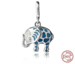 Elefant-charm-cute-Anhaenger-Dangle-925-original-Sterlingsilber-NEU-BEAD
