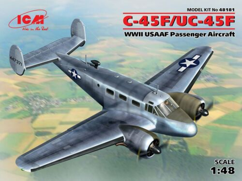 WWII USAAF Passenger Aircraft 1:48 Plastic Model Kit ICM C-45F//UC45F