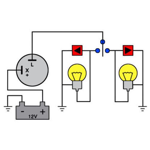 CLASSIC CAR  FLASHER UNIT RELAY INDICATORS 12V LIGHT TURN SIGNAL 2 PIN