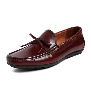New-Men-039-s-Genuine-Leather-Casual-Boat-Deck-shoes-Driving-Loafers-Slip-on-W3008