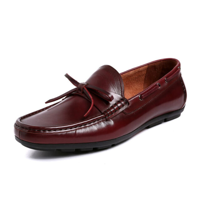 New Men's Genuine Leather Casual Boat Deck shoes Driving Loafers Slip on W3008
