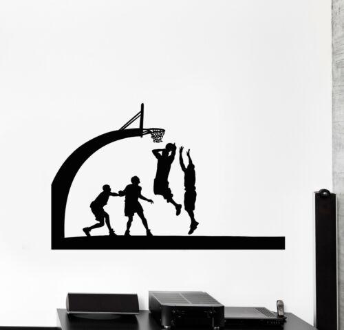 Vinyl Wall Decal Basketball Team Sport Ball Jump Players Game Stickers g242