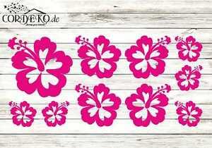 SET-Fahrradaufkleber-Hibiskus-Blumen-Hibiscus-Blume-Auto-Sticker-Tuning-Styling