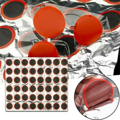 Bicycle Bike Tire Tyre Tube 48 Rubber-Puncture Patch Patches Repair Kit Set