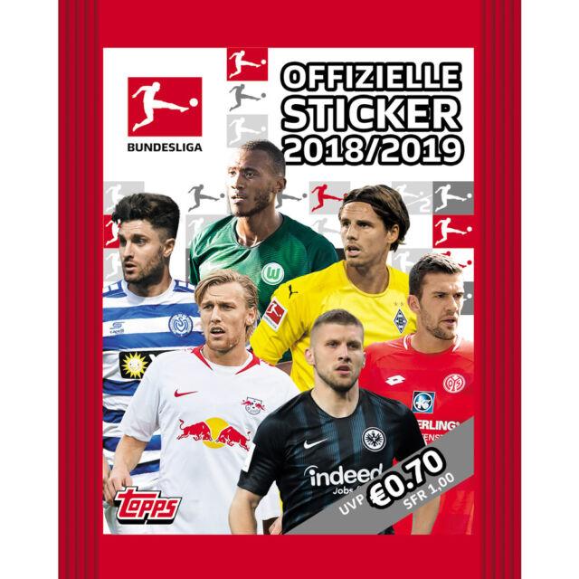 5 Tüten Neu /& OVP Leeralbum Topps Bundesliga Sticker 2018//2019