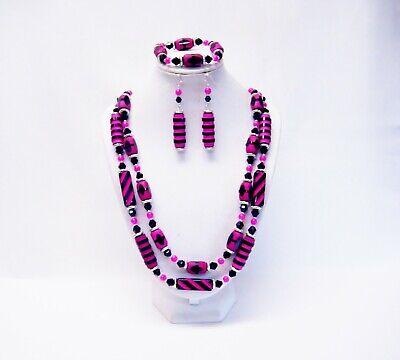 beaded bracelet statement necklace beaded necklace Beaded set of necklace and bracelet