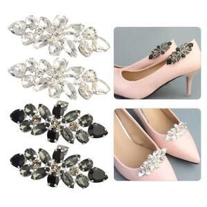 Buckle-2PCS-Buckle-Shoe-High-Glass-Heels-Clip-Rhinestone-Accessories-TIX7