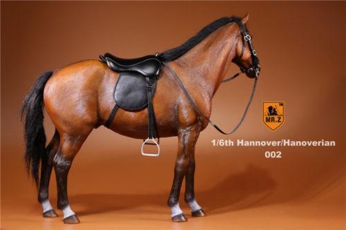 Mr.Z 002 Germany Hannover/Hanoverian Warmblood marrone Horse w/ Saddle Set 1/6 Toy