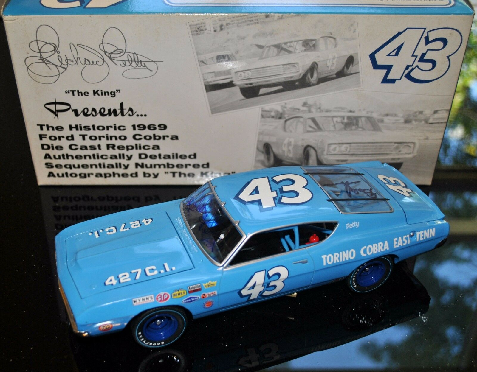 Richard Petty Dale Inman Signed Autographed 1 24 Die Cast NASCAR 1969 Torino