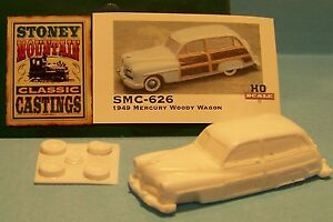 unfinished SMC-637 1951 Ford Woody Wagon  1//87th-HO Scale Clear Resin