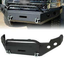 For 2011 2012 2013 2014 Chevy Silverado 2500 3500 Hd Black Steel Front Bumper Fits 2013 Silverado 2500 Hd
