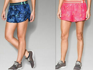 ALL SIZES UNDER ARMOUR LADIES PRINTED PERFECT PACE SHORTS