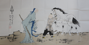 RARE-LARGE-Chinese-100-Handed-Painting-By-Fan-Zeng-EK23