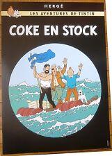 Tintin Coke en stock Superbe Affiche 50X70 sur Rare papier épais Hergé