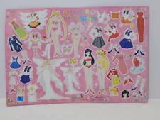 NEW Vintage Sailor Moon TOEI Paper Doll Set Queen Serenity Chibi Mars Venus