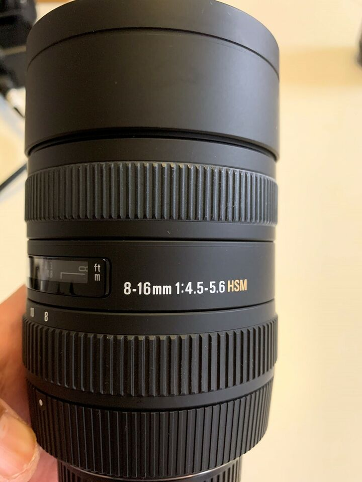 Wide, Sigma, 8-16mm f/4.5-5.6 DC HSM til Nikon